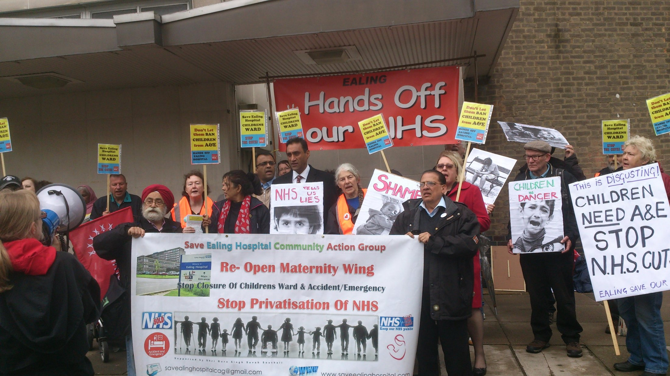Protest in Greenford outside the CCG