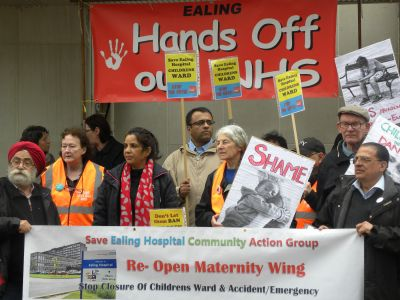 Protest outside the CCG meeting