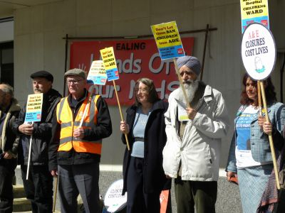 Protest in Greenford